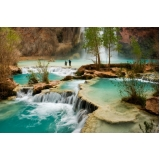 painel fotográfico de cachoeira Pinheiros