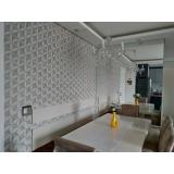 papel de parede para a sala valor Parque Residencial da Lapa