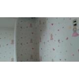 papel de parede para quarto colorido preço Vila Romana